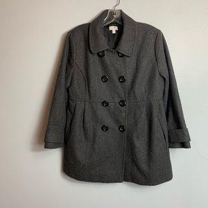 MATERNITY A PEA IN THE POD WOOL COAT SIZE LARGE